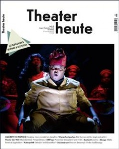 Theater Heute, August 2014
