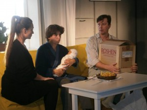 "A Scene from ""History"" Play by Director Anton Romanov"