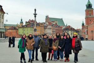 Учасники подорожі у Варшаві.